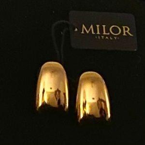 Milor Italy 14K Gold Resin Filled Earrings